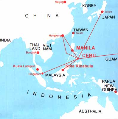 Direct Air Routes To Manila Cebu